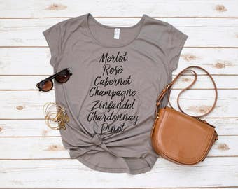 Wine Shirt, Wine List Tee