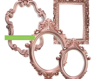 SALE! ROSE GOLD Picture Frame - Blush Pink Wedding Decoration - Bohemian Photo Props