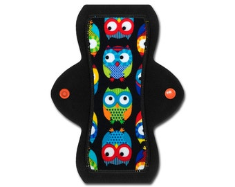 """Cloth Pad (8"""" Moderate - Owl Flannel)"""