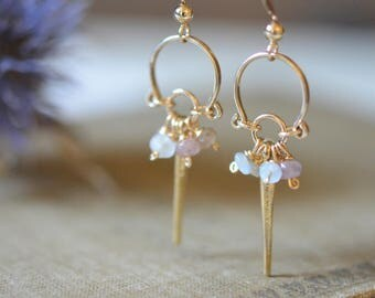 Small Natural Color Sapphire Earrings