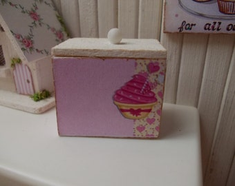 wooden box, shabby chic, 1.12 th