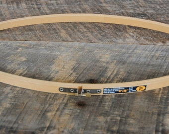 Vintage 8 x 15 Oval Wood Hoop Embroidery Crafts FW Woolworth Co.
