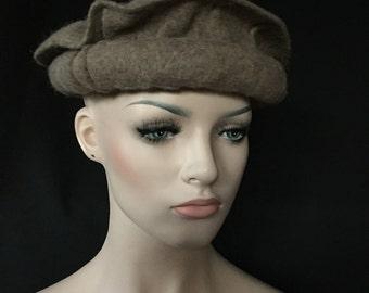 Afghan War Collectible Militaria Pakol Masoud Mujahideen Military Wool Hat BROWN Uber Kuchi®