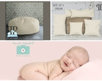 Starter Set #8 ~ Travel size Posey Pillow and Set of 5 Posey positioners. Newborn photo props by Posey Pillow