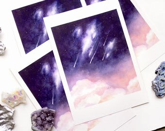 shooting star | WATERCOLOUR PRINT