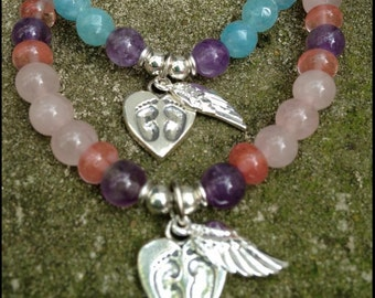 ॐCrystal Blissॐ Child Baby Loss Remembrance Memorial Stillborn Miscarriage Bracelet