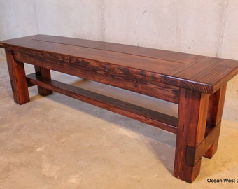 Farmhouse Bench / Rustic Farmhouse Bench / Farmhouse Dining Bench / Rustic Bench / Wood Bench /Dining Bench / Farm Style Bench / Bench
