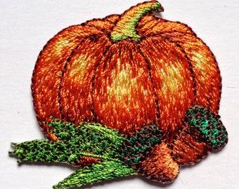 pumpkin iron on patch applique