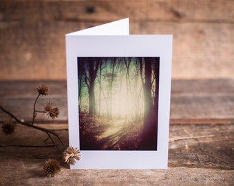 Greeting Card 08 // Path, Woods, Wander, Mystery, Journey, Magic, Woodland, Trees, Forest, Landscape