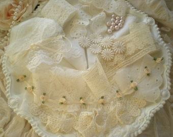 SALE...Vintage Lace Supplies Destash Inspiration Collection From SincerelyRaven On Etsy