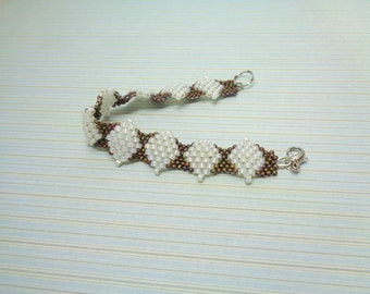 Pattern Adora bracelet, pdf pattern, bracelet tutorial, bracelet pattern, miyuki pattern, odd count peyote, jewelry pattern, tutorial
