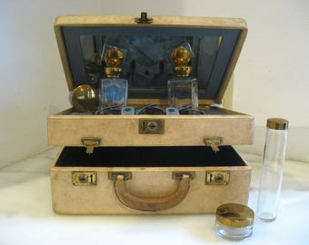 Train case ~ Orient Express Vanity Case, has seen some miles....