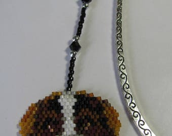 Hand Beaded St Bernard book marker