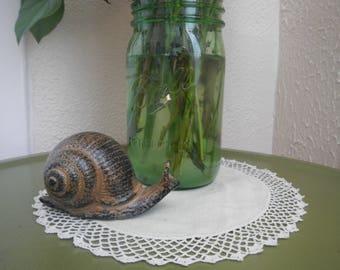 Vintage Ceramic Snail Figurine