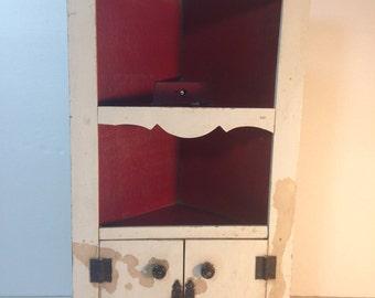 wooden 12-1/2 inch corner cupboard - salesman's sample?