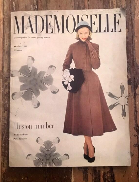 Vintage Mademoiselle Magazine Oct 1949