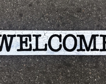 Wood Sign Wall Decor - WELCOME