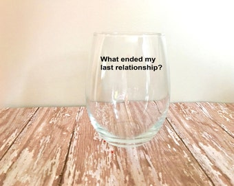 Cards Against Humanity Stemless Wine Glass // Funny Wine Glasses // Mix and Match // Game Night // Hostess Gift