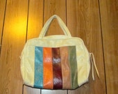 Large VINTAGE COLOR BLOCK Purse/Luggage