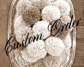 Custom Order for Pamela - Yarn Pom Pom Garland - Yarn Pom Poms