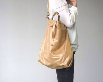 Bercy Convertible Backpack Shoulder Bag Crossbody - Gold Dust