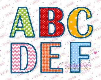 "BX FORMAT-Sizes - 3""- 4""- 5""- 6"" -  Applique Embroidery Font 330 - Machine Embroidery Design - 4 applique sizes"