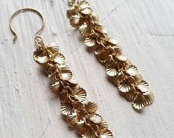 Shell Lei Drop Earrings - beach jewelry, boho chic, ocean jewelry, hawaii, kauai