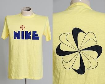 70s NIKE Pinwheel Block Letter T Shirt Rare Deadstock