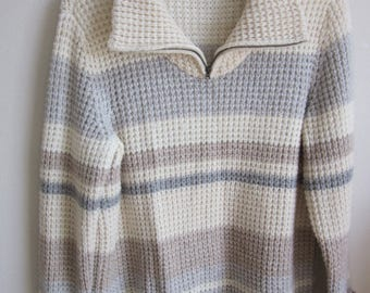 Men Women Eddie Bauer Sweater pullover chunky knit XL