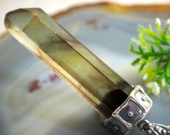 Citrine Pendant Yellow Quartz Necklace Sterling Silver Jewelry