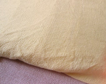 Lightweight Sewing Material, Light Yellow Woven Fabric, Textured Fabric, Butter Yellow, Spring Colors, For Dressmaking and Home Decor