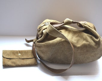 90s Borbonese by Redwall 91056 designer purse and wallet made in Italy Nylon, non leather Handbag  shoulder bag  travel bag