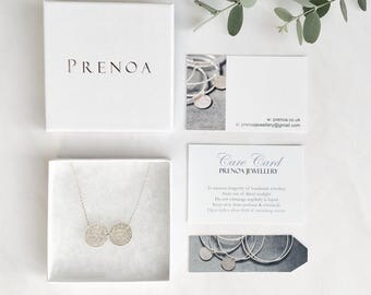 Gift-wrapping Upgrade for Prenoa- Silver Foiled Branded White Gift Box, Jewellery Box, Personalised Wrapping Service