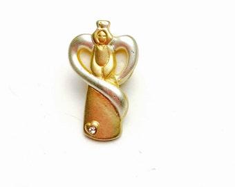 Art Nouveau Lady Lapel, Gold & Silver Tone, Vintage Figural, Clearance  Sale, Item No. B816