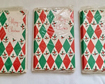 Vintage 1950s 60s Christmas Cards New Old Stock in Package of 10 - 3 available