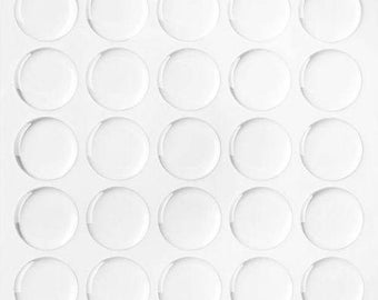 """100 Pieces Clear Round Epoxy Domes Resin Stickers Cabochon 10mm (3/8"""") Self Adhesive"""