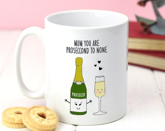 Prosecco Mug, Mother's Day Gift, Prosecco, Mug, Mother's Day Mug, llustration, Funny Mug, Prosecco Gift, Gift for Mum, Motherhood