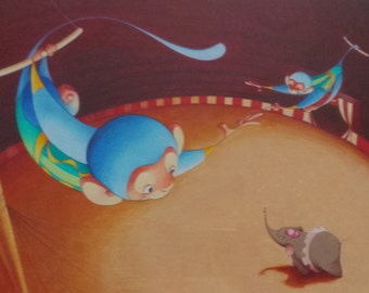 Circus Monkeys Children's Print