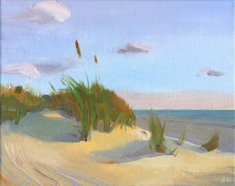 "Beach Decor ""Sun, Sand, Sky "" Oil Painting by B. Kravchenko for SEASTYLE"