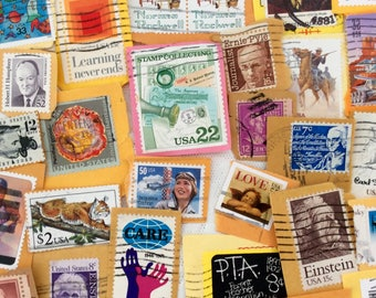 Used Postage  - Stamps - Pick the amount option - Stamp Collecting - Scrapbooking - decoupage  - Collage  - Kid's Crafts - random assortment
