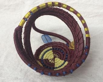 Decorative Basket Sculpture Home Decor Art Collectible