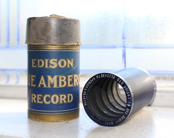 Antique Edison Cylinder Record 1599 Where The Edelweiss Is Blooming Hanky Panky Phonograph Record