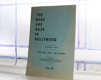 The Reds Are Back In Hollywood Vintage 1956 Booklet Anti Communist