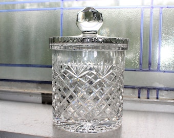 Vintage Lead Crystal Candy Jar Crystal Clear Industries Poland 1960s