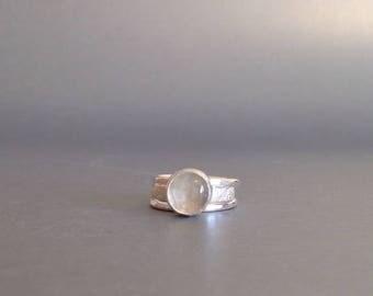 Moonstone Ring - Stacking Rings - Silver Artisan Rings