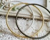 57 mm ( Inner diameter) of Antique Bronze / Silver/ Golden Twisted Pattern / Braided Pattern (.cg)