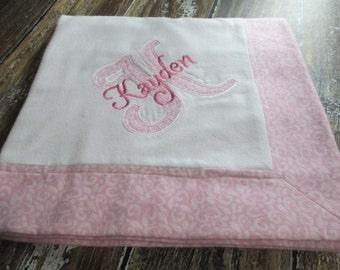 Pink Swirls Baby Blanket