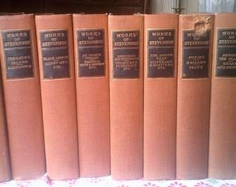 The Works of Robert Louis Stevenson 10 volume set Published 1906