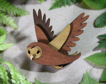 Owl Brooch - Woodland Collection