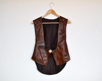 Vintage Handmade Butter Soft Brown Leather Vest
